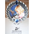 """SWAROVSKI SILVER CRYSTAL  """"PICTURE FRAME-BLUE FLOWER"""" 207892 MINT IN BOX  FREE POSTAGE WITHIN AUSTRALIA"""