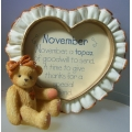 PICTURE FRAME  NOVEMBER - 311715  CHERISHED TEDDIES MINT IN BOX