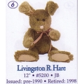 LIVINGSTON R. HARE  5200 JB  BOYDS PLUSH COLLECTION