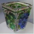 AMIA - HAND PAINTED GLASS PETITE VOTIVE HAND PAINTED PVO6077