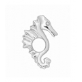 PETITES SEA HORSE LINK XT120 IN SILVER  PASTICHE FOR THE YOUNG