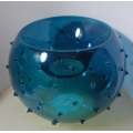 """PERFECTLY PAISLEY """"31/2"""" DOTTED GLASS  ROUND CANDLE HOLDER"""" 76021 MINT IN BOX"""