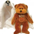 """SKANSEN BEANIE KID """"SPOOKY THE GHOST BEAR"""" MINT WITH MINT TAG     LIMITED EDITION SERIES  OCTOBER  2004 RELEASE"""
