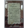ON YOUR CONFIRMATION MIRRORED MESSAGE PLAQUE & CONFIRMATION KEEPSAKE BOOK 467039&CDF4082