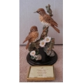 """COUNTRY ARTISTS  """"SEASONS CHORUS - PAIR OF THRUSHES - 23 cm TALL - LIMITED EDITION"""" NEW IN BOX 244900"""
