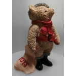 """COLOUR BOX  BEAR BY PETER FAGAN - """"FATHER CHRISTMAS BEAR """"  TC044  MINT IN BOX   FREE POSTAGE WITHIN AUSTRALIA *"""