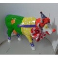 """COWS PARADE  """"COW! ON PARADE-PUT A CLOWN IN YOUR LIFE! BY ERICK CALDERON ACUNA""""  S47770  GIFT BOXED  MINT IN BOX"""