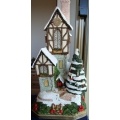 "DAVID WINTER COTTAGES   ""THE CHRISTMAS-TIME CLOCKHOUSE"" PREMIER WW LTD ED 3500 NO 0066/3500 HANDMADE IN ENGLAND 1931 MINT IN BOX ""REDUCED"""