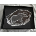 "MATS JONASSON CRYSTAL-SWEDEN   ""LIMITED EDITION"" 1998 ELEPHANT 148/975  33119 MINT IN BOX WITH CERTIFICATE"