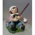 "ENESCO, RAGGEDY ANN & ANDY  "" ANDY FISHING"" 677701 IN BOX"