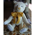 """STEIFF COLLECTION BY ENESCO !    """"PORCLAIN CHAMPAGNE BEAR 2002 PRODUCTION ONLY BEAR """" A0449 MINT IN BOX"""