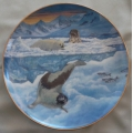 """RECO INTARNATIONAL  """"PALACE OF THE SEALS PLATE"""" 23.5 cm 72283 MINT IN BOX"""