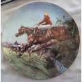 """COALPORT ENGLAND """"1974 GRAND NATIONAL THE SPIRIT OF THE TURF LIMITED EDITION PLATE"""" CP2112 MIB"""