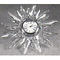 SWAROVSKI SILVER CRYSTAL SOLARIS TABLE CLOCK   221626  NEW & MINT IN BOX  REDUCED