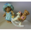 """CHERISHED TEDDIES """"FOR YOU MUM SET OF 2 EUROPEAN EXCLUSIVE""""  MINT IN BOX 4019210"""
