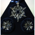 "SWAROVSKI SILVER CRYSTAL  ""2007 STARS SET OF 3 ANNUAL EDITION"" 903409 MIB"