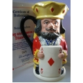 ROYAL DOULTON KING & QUEEN OF DIAMONDS TOBY JUG  D6969 MINT IN BOX