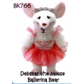 "SKANSEN BEANIE KID ""DEBSTAR THE MOUSE BALLERINA BEAR""    MINT WITH MINT TAG"