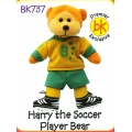 HARRY  THE SOCCER PLAYER BEAR COMMON PREMIER EXCLUSIVE