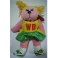 "SKANSEN BEANIE KID ""PIVOT WING DEFENCE THE NETBALLER BEAR"" MINT WITH MINT TAG  04/2008 WD"