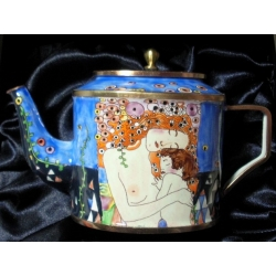 TEATIME TREASURES TM TEA POT THREE AGES, BY KLIMT 895228 BY GO