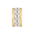 PETITE SPACER CHANNEL GOLD PLATE WITH CUBIC ZIRCONIA XT141CZG