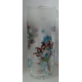 """PERFECTLY PAISLEY """"GRANDMA CRACKLE GLASS 6"""" CANDLE HOLDER"""" 76023 MINT IN BOX"""
