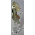 "MURANO GLASS - ITALY  ""VENETIAN COCKATOO-GOLD"" FM46722 38cm TALL"