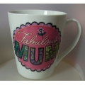 "ASHDENE   ""FABULOUS MUM - LOVED ONES- FLARED MUG""  16181  BONE CHINA MINT IN CLEAR BOX"