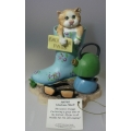 """BORDER FINE ARTS  """"GLORIOUS MUD!"""" COMIC & CURIOUS CATS A9765  MINT IN BOX"""