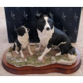 "BORDER FINE ARTS   ""THE UNDERSTUDY BORDER COLLIE BITCH & PUP COLLECTION""  L150 DESIGNED AND MADE IN SCOTLAND LIMITED EDITION 1500"