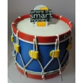 "ENESCO WHERE THE SMART MONEY IS   ""DRUM MONEY BANK"" A21059 MINT IN BOX"
