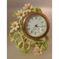 "HANDCAST BY ENESCO GIFTS TO TREASURE  "" MINIATURE CLOCK ORANGE BRANCH "" A3732 BOXED"