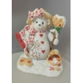 "CHERISHED TEDDIE  ""DELIGHT  SNOW BEAR FIGURINE""  848573 MINT IN BOX"