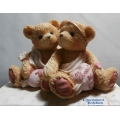 "CHERISHED TEDDIE  ""HEART TO HEART "" 869082 MINT IN BOX CUPID BOY & GIRL & HEARTS FREE POSTAGE WITH AUSTRALIA *"