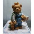 "CHERISHED TEDDIES ""WILBUR"" 950718 (PART OF A SET OF 3) NEW ,CERTIFICATE NO BOX FREE POSTAGE WITHIN AUSTRALIA *"