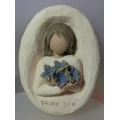 """WILLOW -TREE DEMDACO """"THANK YOU ORNAMENT"""" 26514 MINT IN BOX"""