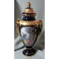 "LIMOGES FRANCE ""LARGE URN WITH LID SERENADE  FRANCE-PORCELAIN 33cm TALL"" LBLU  MINT NOT BOXED"