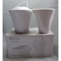 "MAXWELL & WILLIAMS  ""TEMPO SUGAR & CREAMER SET P24548""  PORCELAIN MINT IN BOX FREE POSTAGE WITHIN AUSTRALIA"