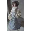 "NADAL PORCELAIN MADE IN SPAIN ""GIRL WITH FLOWER BASKET"" N132308E MINT IN BOX"