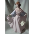 "NADAL PORCELAIN MADE IN SPAIN ""DANCER HOLDING DRESS"" N142666E MINT IN BOX"