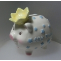 MUDPIE BY ENESCO LITTLE PRINCE PIGGY BANK  17057 MIB