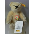 "STEIFF COLLECTION!   ""MILLENIUM DECADE TEDDY BEAR -YELLOW EAR TAG"" 029042 NOT BOXED"