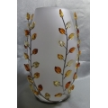 SWAROVSKI CRYSTAL HOME ACCESSORIES  TOPAZ LEAVES VASE 854108 2005-2006 RETIRED FREE POSTAGE WITHIN AUSTRALIA