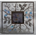 """SWAROVSKI SILVER CRYSTAL    """" SQUARE PICTURE FRAME LEAVES""""  861932  MINT IN BOX & PAPERS"""