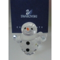 "SWAROVSKI SILVER CRYSTAL  ""LITTLE SNOW MAN-RETIRED 1st QUARTER 2009"" 624572 MINT IN BOX"