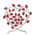 SWAROVSKI CRYSTAL HOME ACCESSORIES RANGE RED LEAVES  HEART CANDLEHOLDER   660 729  MINT IN BOX